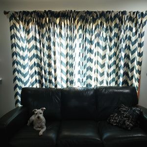 West Elm Chevron Curtains 84in x 48in